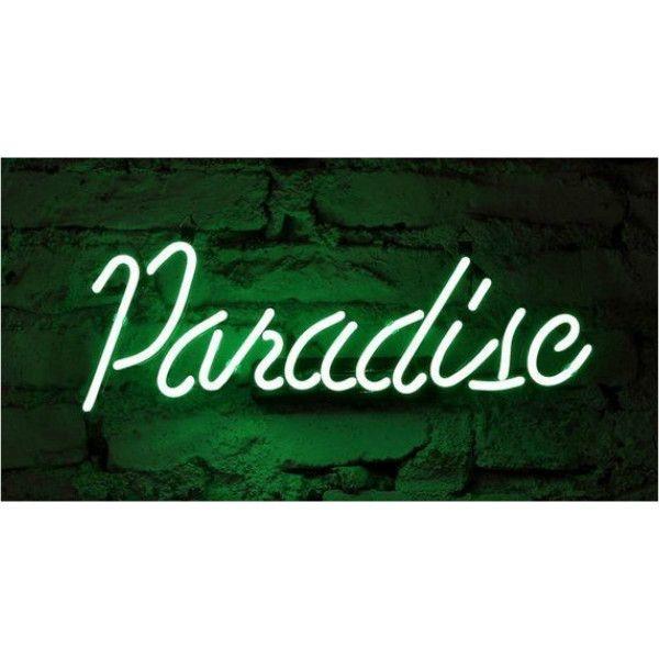 Handmade 'Paradise' Art Light Banner Christmas Gift Neon Sign