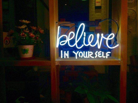 Believe in yourself neon art sign apollobox handmade believe in yourself art light sweet banner neon sign neon sign solutioingenieria Choice Image