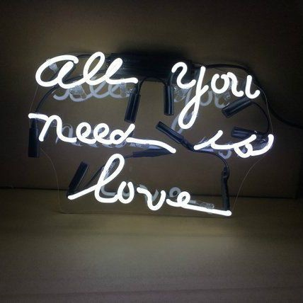 All You Need Is Love White Neon Sign