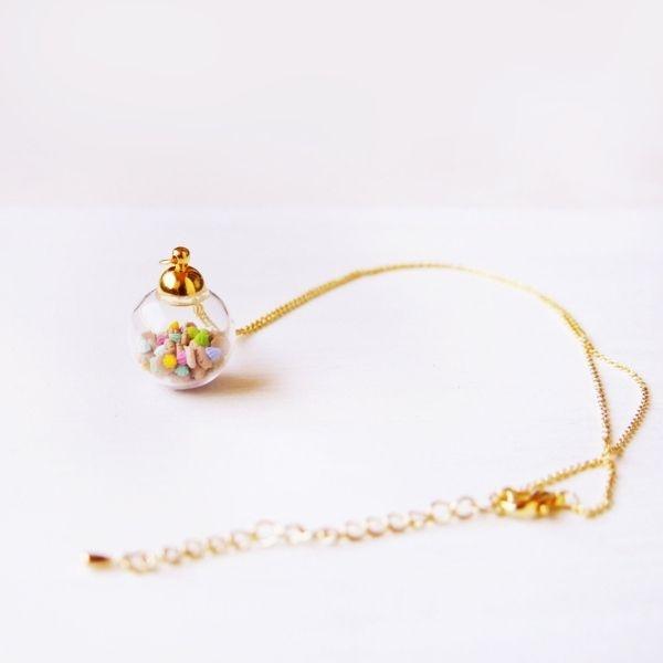 product image for Tiny Ice Gems In Mini Glass Jar Necklace