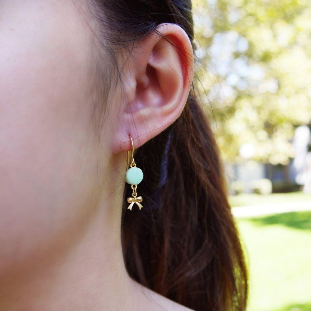Cute Mint Macaron Earrings Handmade With Love