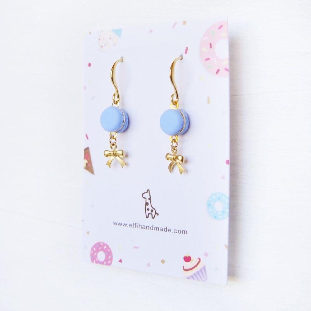 Cute Purple Macaron Earrings Handmade With Love