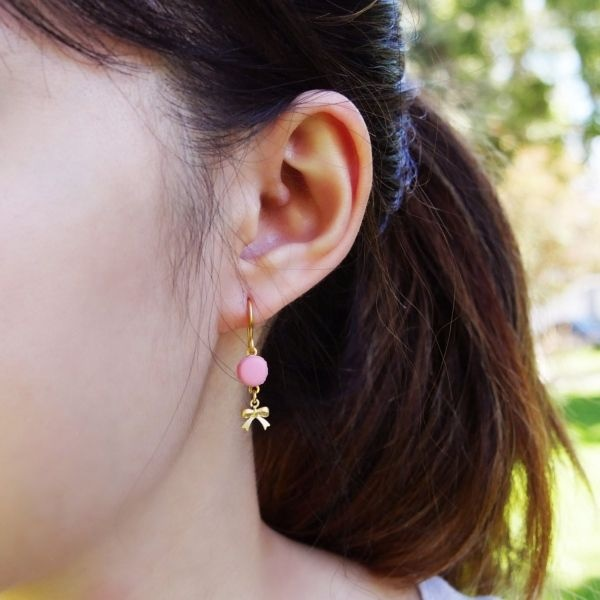 product image for Cute Pink Macaron Earrings