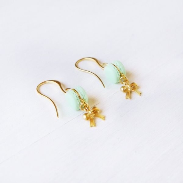 product image for Cute Mint Macaron Earrings