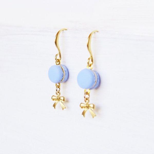 product image for Cute Purple Macaron Earrings