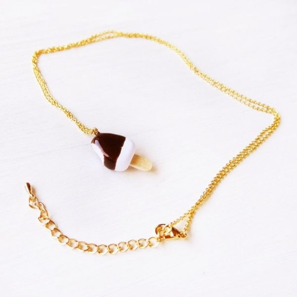 product image for Cute Chocolate Ice Cream Bar Necklace