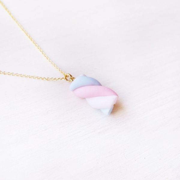 Kawaii Marshmallow Necklace