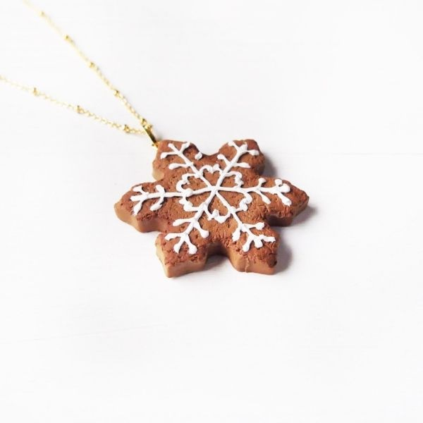 Snowflake Cookie Necklace