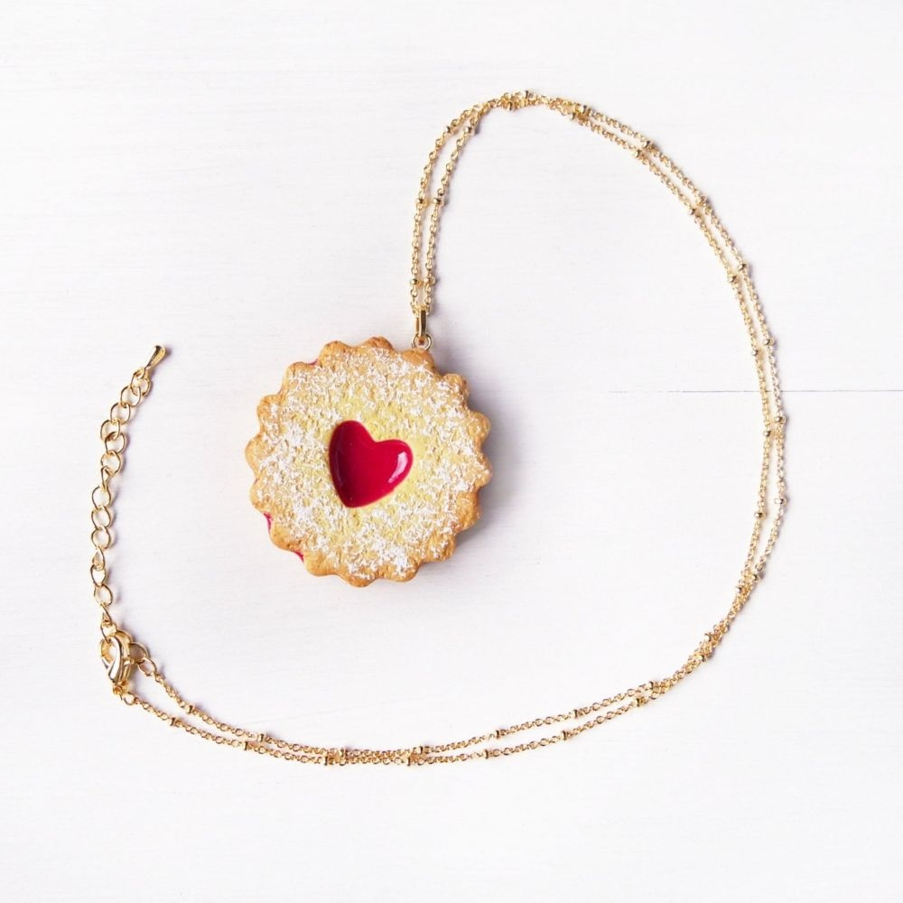 Cute Jam Cookie Necklace Handmade With Love