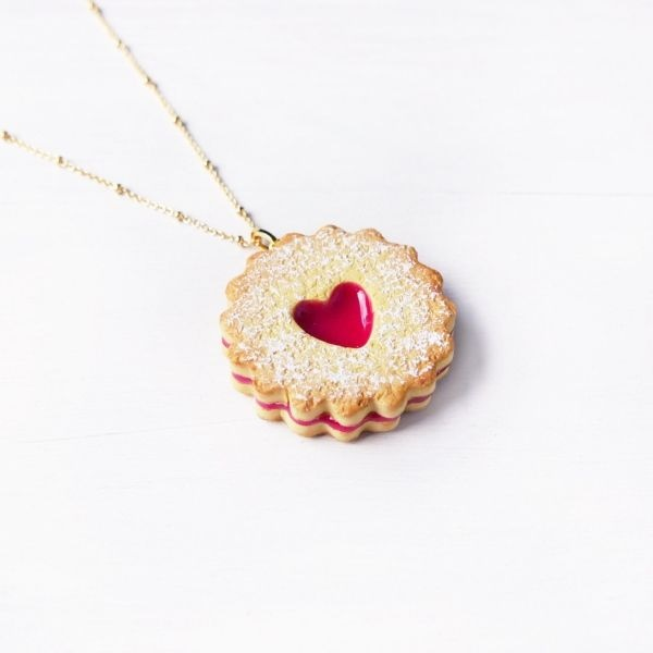 product thumbnail image for Cute Jam Cookie Necklace