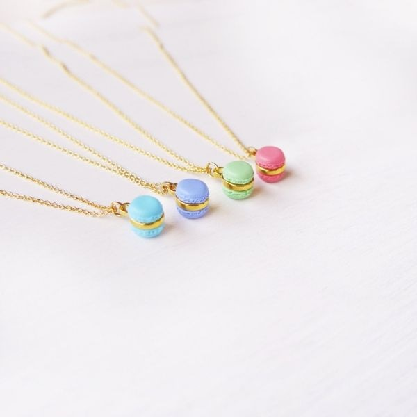 product image for Mini Purple Macaron Necklace