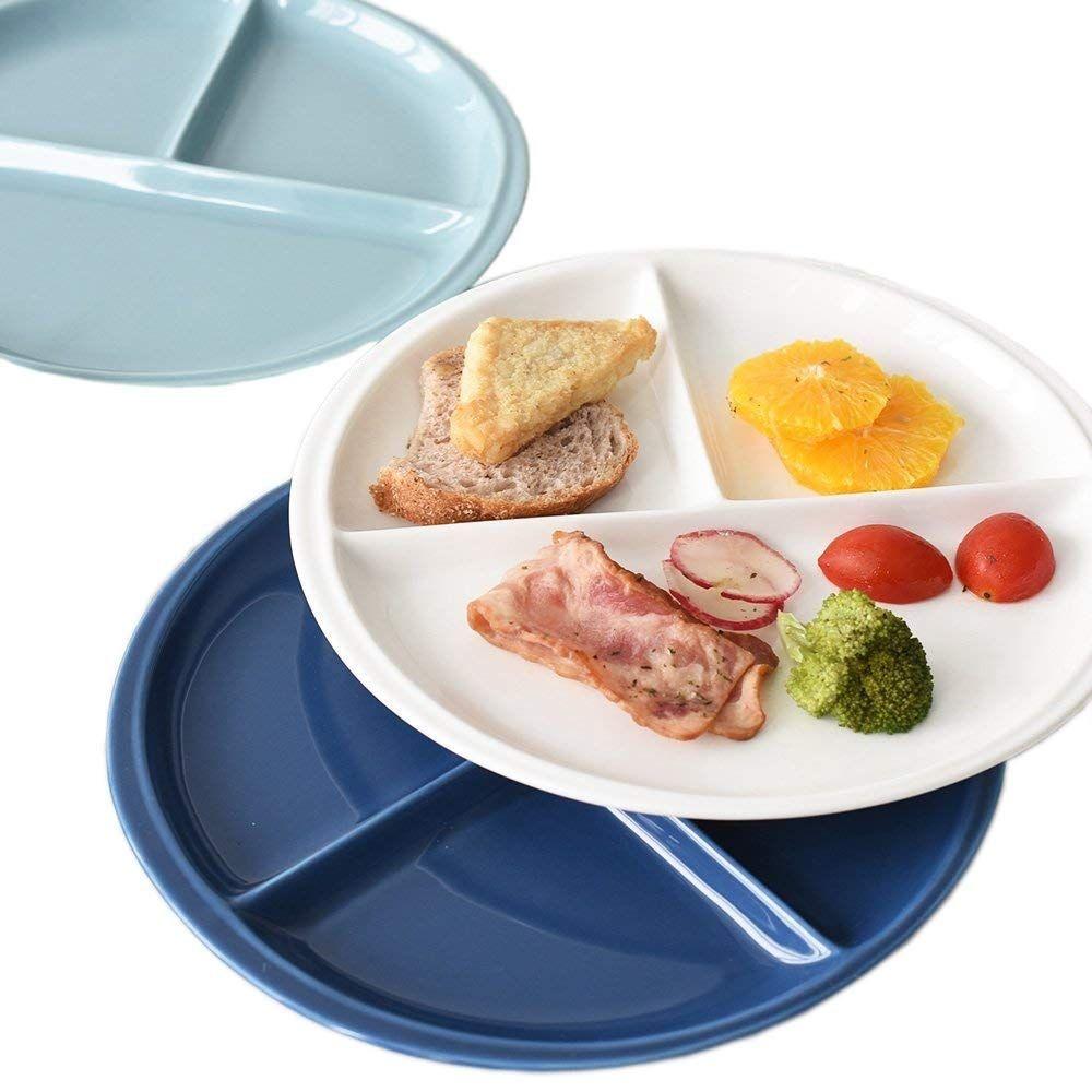 Divided Ceramic Dinner Plate Set