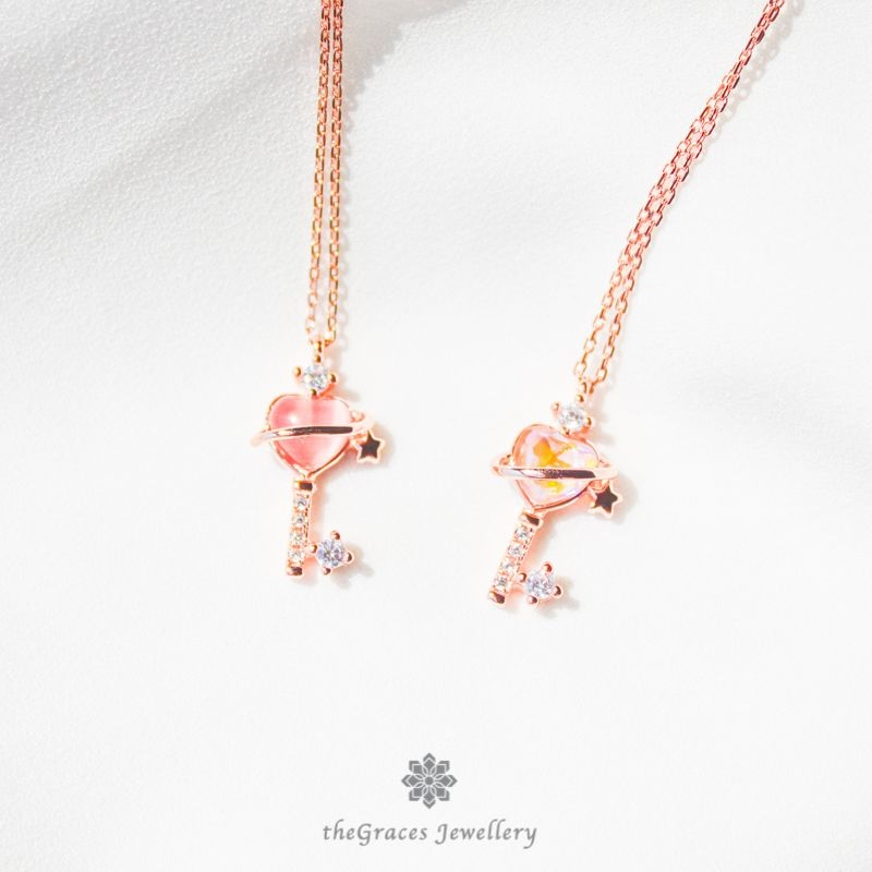 """""""Key to my Heart"""" Sterling Silver Necklace"""
