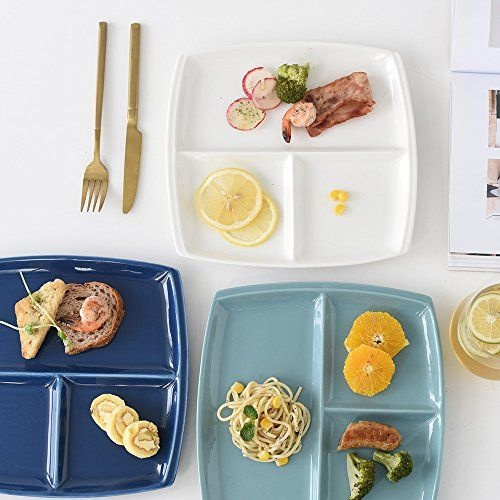 Portioned Square Dinner Plates