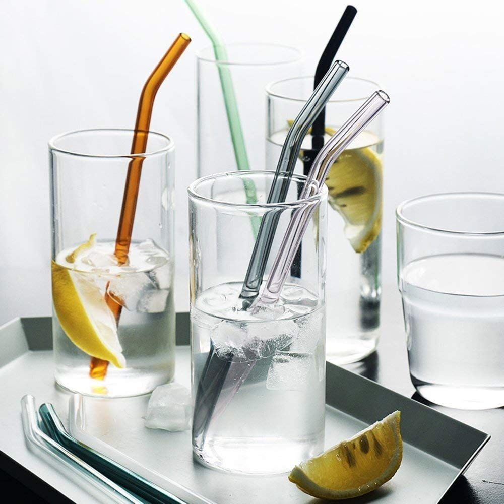Color Glass Straws Pack of 8