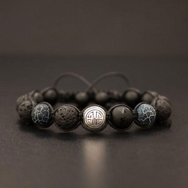 Long Life Black Onyx Men's Bracelet