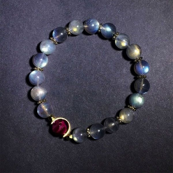 product image for Magenta Tiger's Eye Moonstone Bracelet