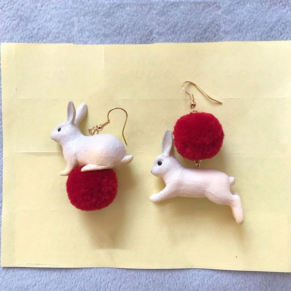 product image for 3D Bunny Earrings