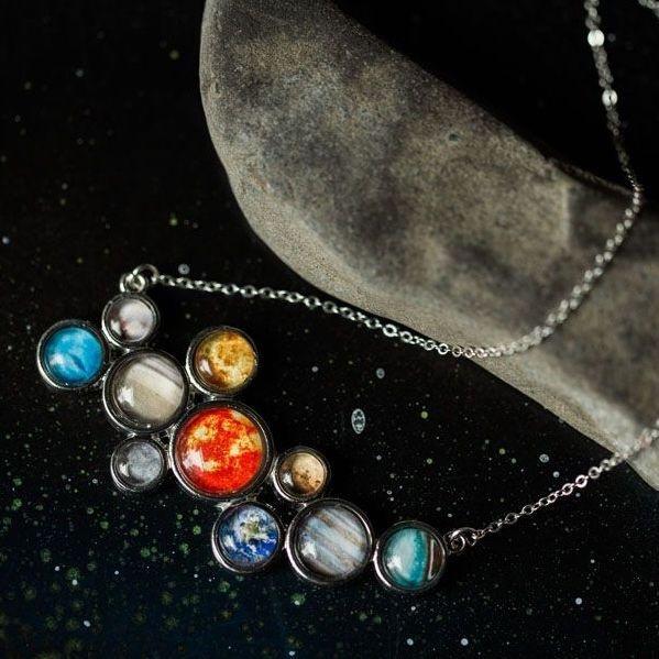 Solar System Bib Necklace