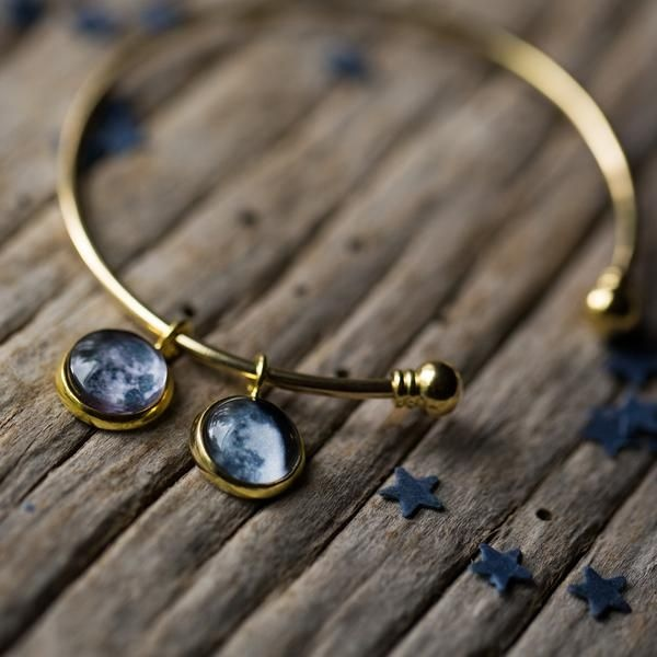 Custom Charm Bracelet with Multiple Birth Moons Customized moon phase from your important date!