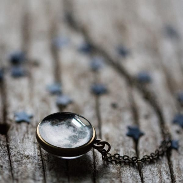 Double Sided Birth Moon Necklace