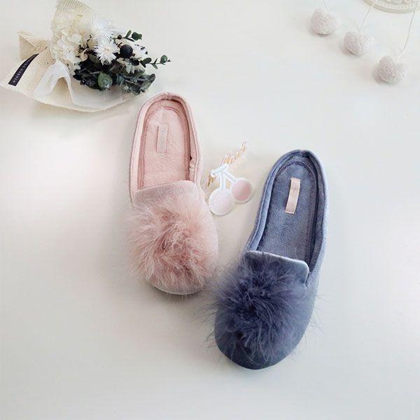Pom Pom Princess Slippers