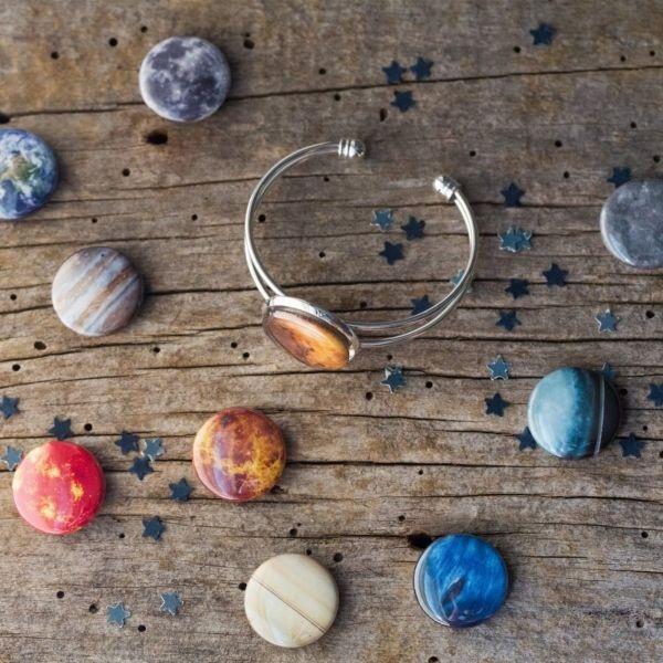 Interchangeable Solar System Cuff Bracelet