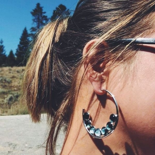 Moon Phase Hoop Earrings