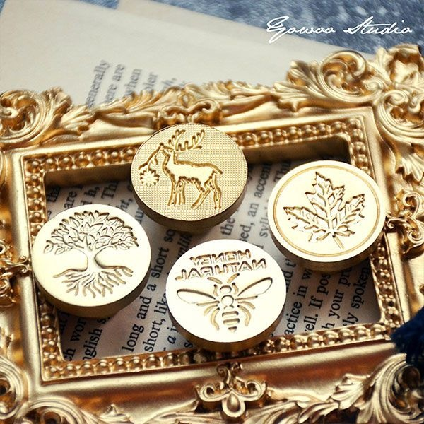 Maple & Bee Wax Seal Stamp Set