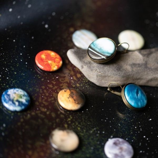 Interchangeable Solar System Earrings