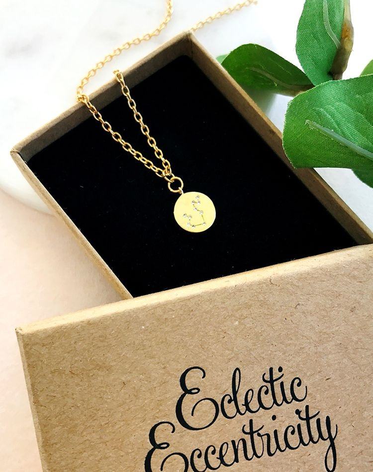 Written In The Stars Star Sign Zodiac Necklace When you wish upon your own star...