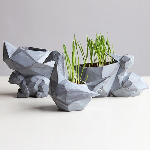 Multi-Faceted Animal Planter