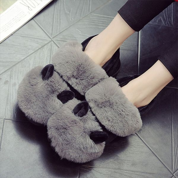 Cozy Cotton Ear Slippers