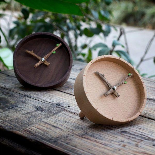 Budding Branches Desk Clock