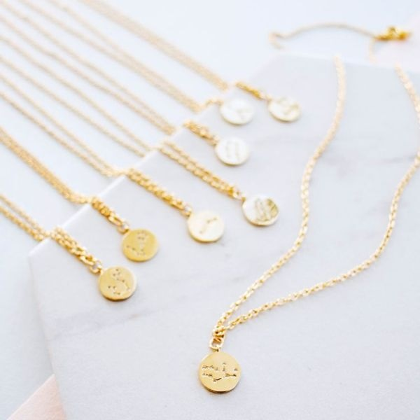 product image for Written In The Stars Star Sign Zodiac Necklace