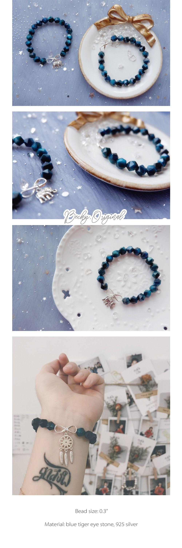 Blue Tiger Eye Crystal Bracelet Blue Crystal