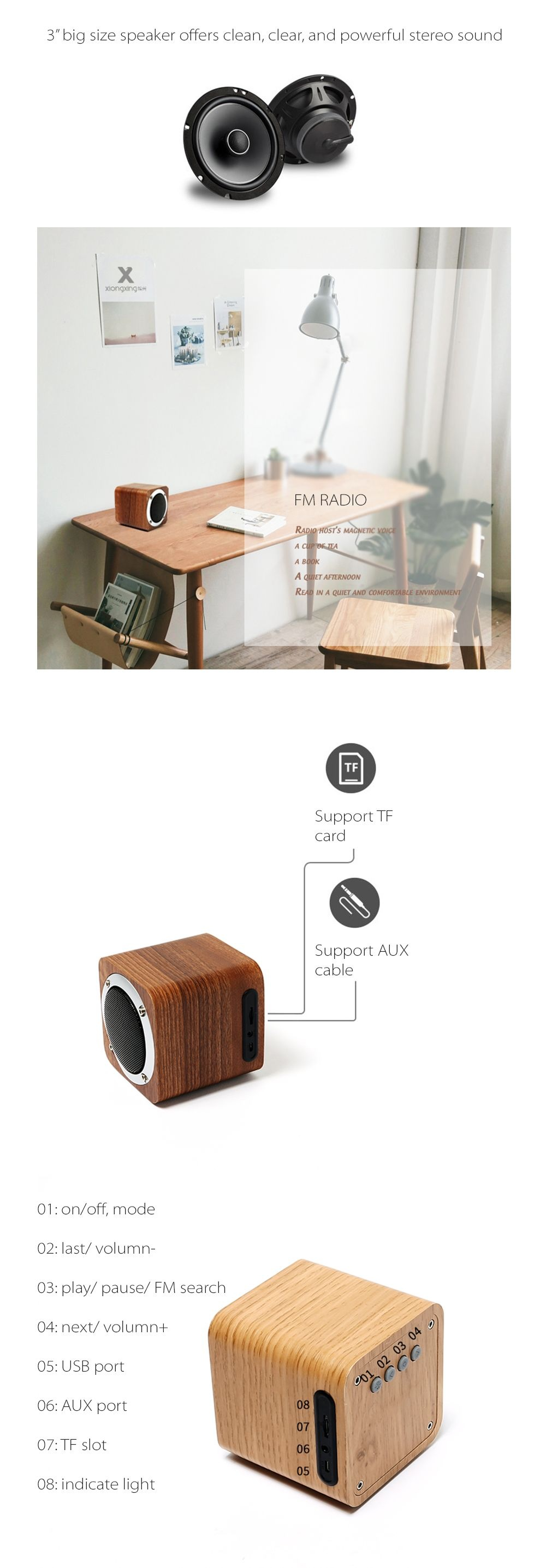 Wooden Bluetooth Speaker Woody Music Machine