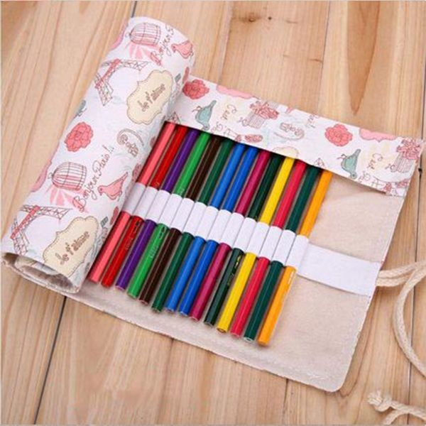 product image for Canvas Colored Pencil Pouch