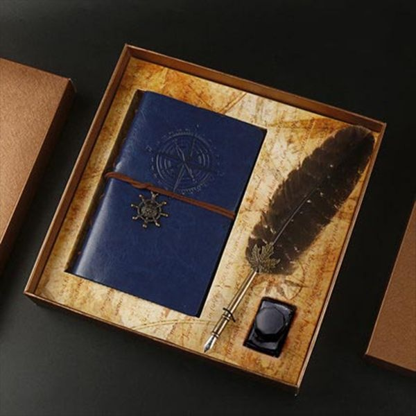 Journal & Quill Pen Gift Set