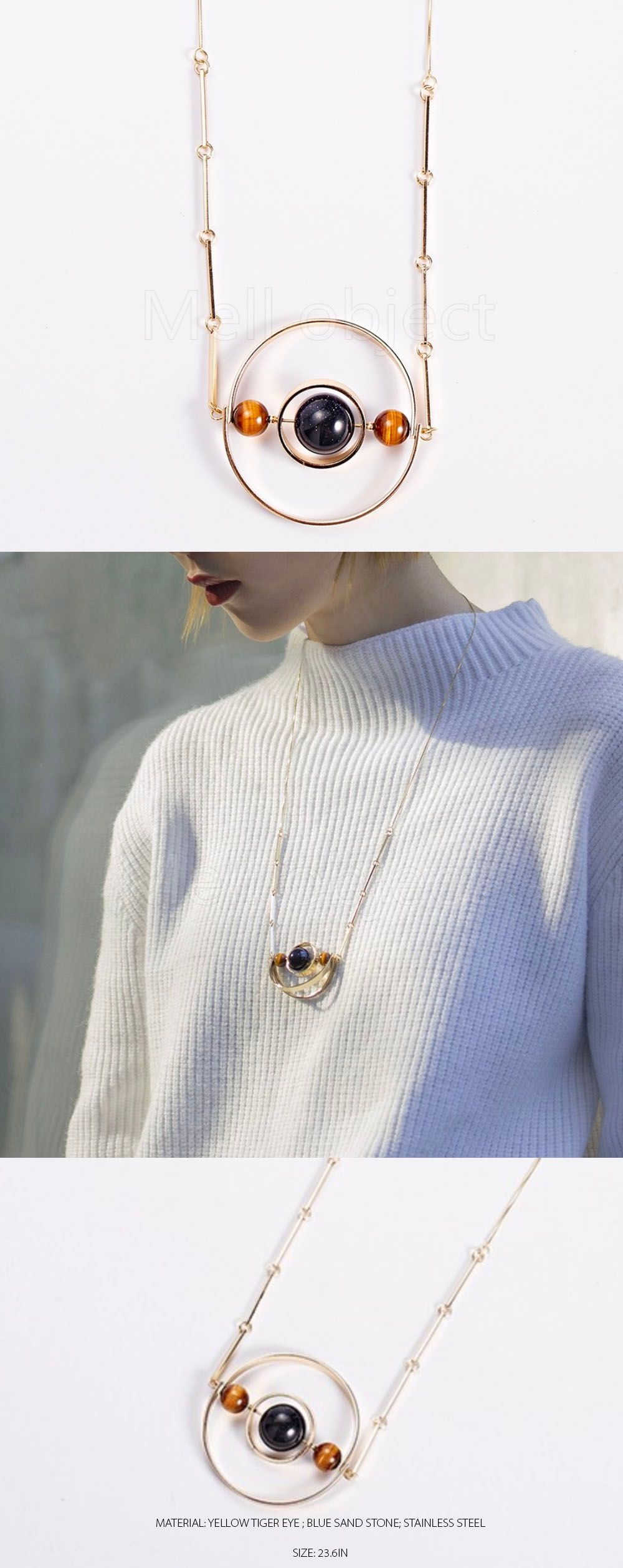 Galactic Orbits Necklace Celestially Inspired Design
