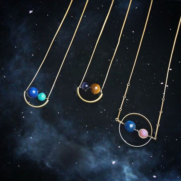 Smiling Planets Necklace